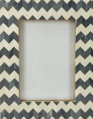 Grey Chevron Photo Frame 5 x 7""