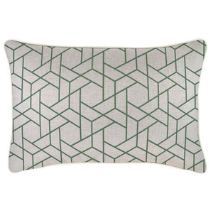Milan Piping Green Cushion