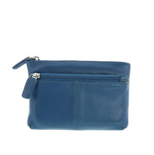 Jas Leather Coin Purse - Blue