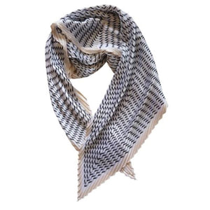 Jess Cream Pleated Scarf