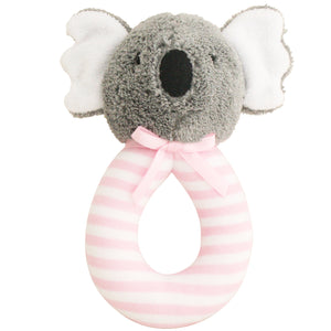 Koala Grab Rattle - Pink Stripe