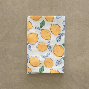 Lemon Navy Napkin - Set of 4