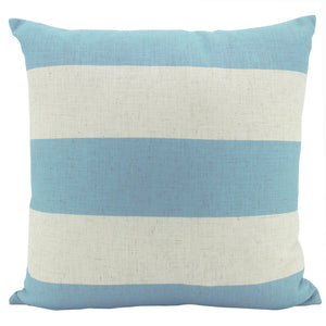 Linen Stripe Sky Cushion 55 x 55cm