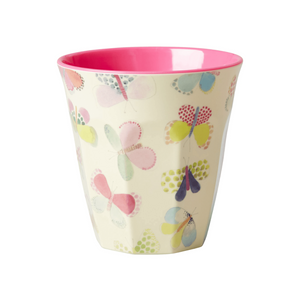 Melamine Cup with Butterfly Print