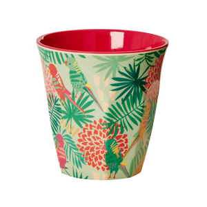 Melamine Cup with Tropical Print