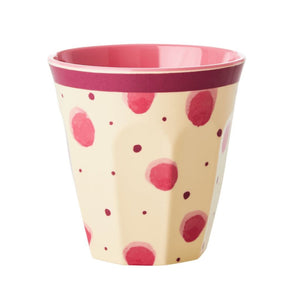 Melamine Cup with Pink Watercolour Spash Print