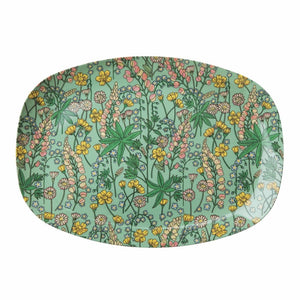 Melamine Plate with Lupin Print