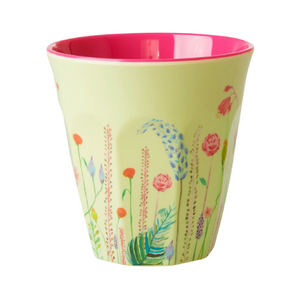 Melamine Cup with Summer Flowers Print