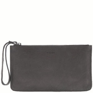 Mercer Leather Purse - Grey