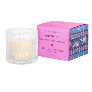 Amethyst + Vanilla, White Musk and Pachouli Candle - Large