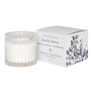 Black Onyx, Neroli, Patchouli + Juniper Berry Candle -Large