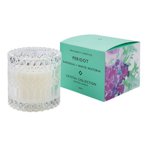 Peridot + Gardenia and White Wisteria Candle - Large