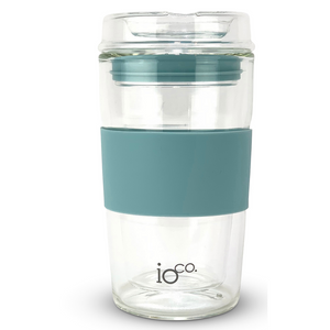 Glass Coffee/Tea Traveller - Ocean Blue 12 oz