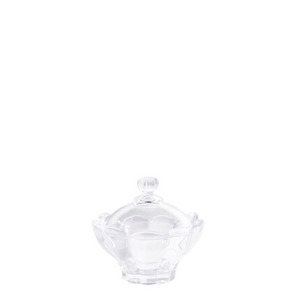 Glass Petal bowl with Lid