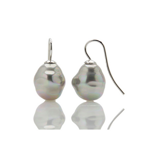 Petite Potato Pearl Drop Earrings