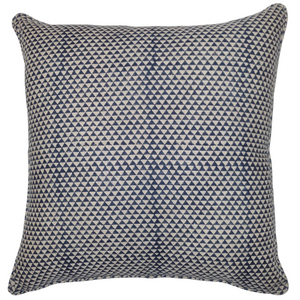 Blue Triangle Organic Linen Cushion 55 x 55