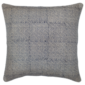 Pale Blue Flowers Organic Linen Cushion 55 x 55