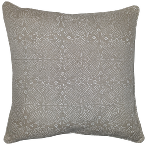 Sacred Chalk White Organic Linen Cushion 55 x 55