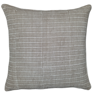 White Dot Dash Organic Linen Cushion 55 x 55