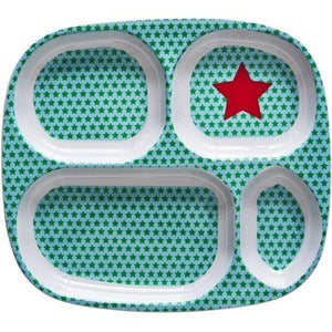 Melamine 4 Room Plate with Star Print