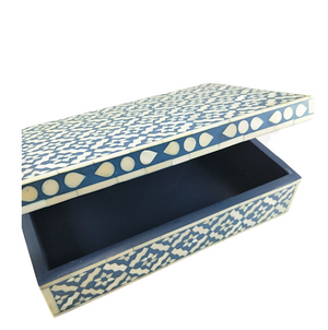 Bone Inlay Box - Teal