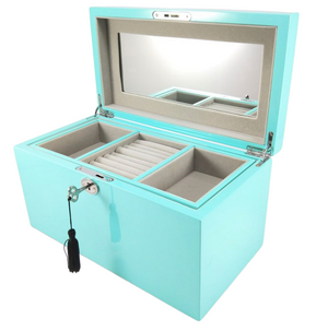 Jewellery Box - Turquoise Rectangle