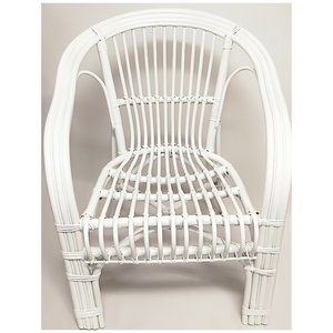 White Cane Chair