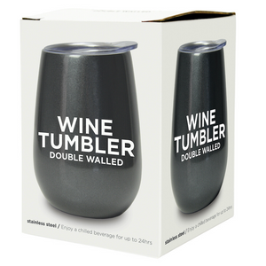 Wine Tumbler - Gunmetal Grey