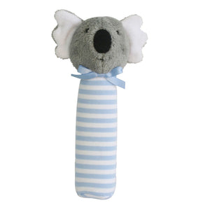 Koala Squeaker Rattle - Blue Stripe