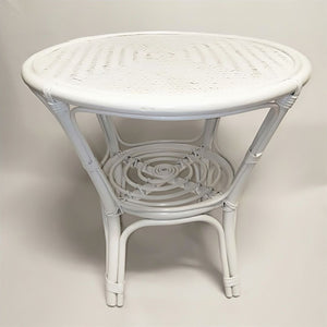 White Cane Table