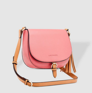 Andrea Pomegranate Crossbody Bag