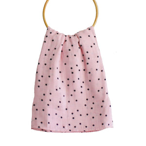 Starry Night Pink Muslin Swaddle