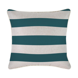 Piping Deck Stripe Teal Cushion 45 x 45