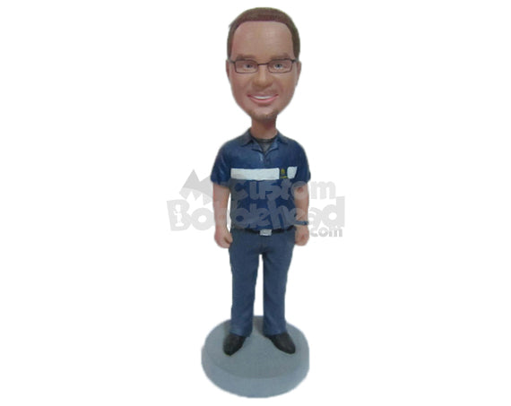 Custom Bobblehead Handsome Dude In Awesome Polo Tshirt - Leisure & Casual Casual Males Personalized Bobblehead & Cake Topper