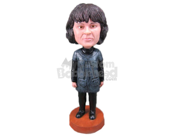 Custom Bobblehead Gorgeous Woman In Stylish Dress - Leisure & Casual Casual Females Personalized Bobblehead & Cake Topper