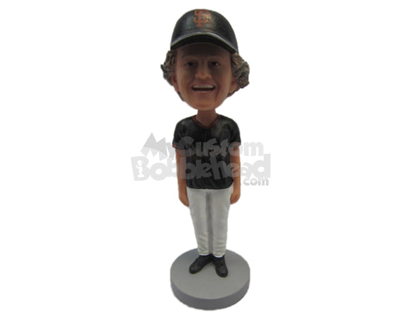 Custom Bobblehead Dude Wearing A T-Shirt And Fashionable Pants With Formal Shoes On - Leisure & Casual Casual Males Personalized Bobblehead & Cake Topper