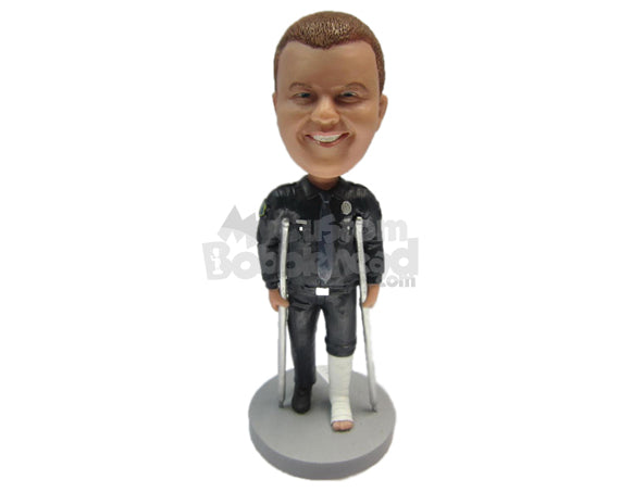 Custom Bobblehead Fashionable Man Wearing A Cool Jacket And Jeans - Leisure & Casual Casual Males Personalized Bobblehead & Cake Topper