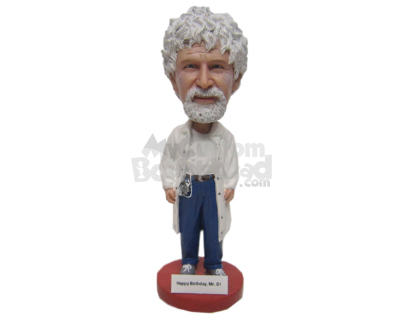Custom Bobblehead Doctor Ready For Action In Jeans And Cool Sneakers - Leisure & Casual Casual Males Personalized Bobblehead & Cake Topper