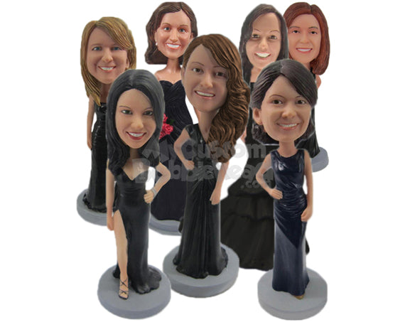 Custom Bobblehead Bridesmaids, Wedding Bridal Party - Wedding & Couples Bridesmaids Personalized Bobblehead & Cake Topper