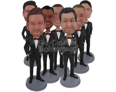 Custom Bobblehead Groomsmen, Bestmen & Bridal Party - Wedding & Couples Groomsman & Best Men Personalized Bobblehead & Cake Topper