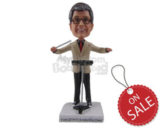 Custom Bobblehead Orchestra Conductor Directing The Musicians - Careers & Professionals Musicians Personalized Bobblehead & Cake Topper