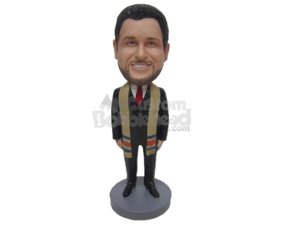 Custom Bobblehead Male Political Leader Wearing Formal Dress With Shawl Around His Neck - Careers & Professionals Personalities Personalized Bobblehead & Cake Topper