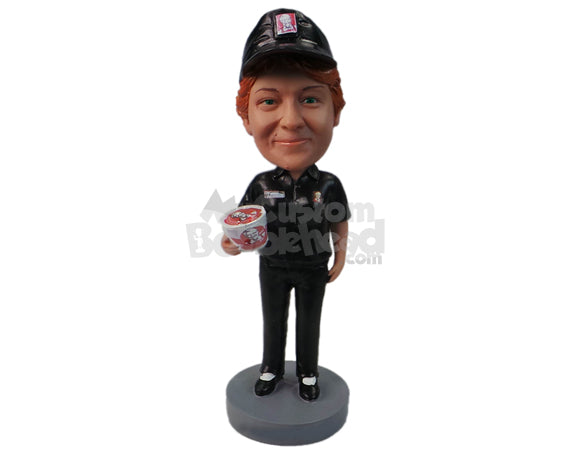 Custom Bobblehead Kfc Server Selling Products - Careers & Professionals Corporate & Executives Personalized Bobblehead & Cake Topper