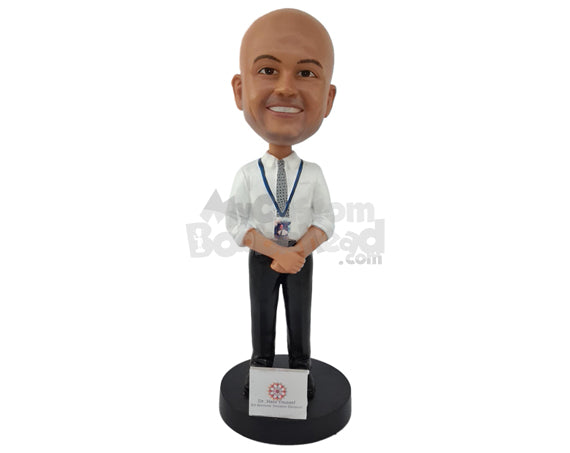 Custom Bobblehead Air Host About To Serve You - Careers & Professionals Arms Forces Personalized Bobblehead & Cake Topper