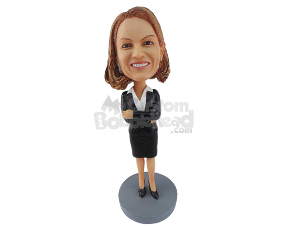 Custom Bobblehead Air Hostess Ready To Assist You - Careers & Professionals Arms Forces Personalized Bobblehead & Cake Topper