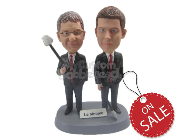 Custom Bobblehead Corporate Guys In Their Stylish Formal Attire - Careers & Professionals Corporate & Executives Personalized Bobblehead & Cake Topper
