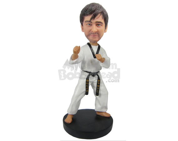 Custom Bobblehead Karate Master Teaching Some Karate Moves - Sports & Hobbies Boxing & Martial Arts Personalized Bobblehead & Cake Topper