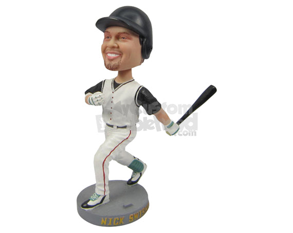 Custom Bobblehead Cool Baseball Pal Happy After Hitting A Home Run - Sports & Hobbies Baseball & Softball Personalized Bobblehead & Cake Topper