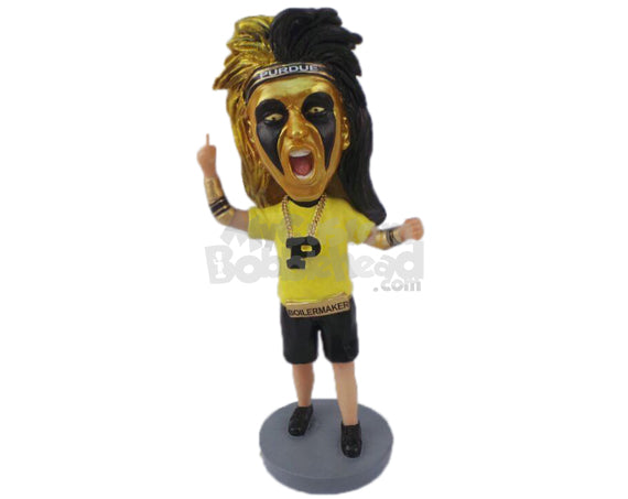 Custom Bobblehead Basketball Male Cheerleader Giving It All For The Team - Sports & Hobbies Cheerleading Personalized Bobblehead & Cake Topper