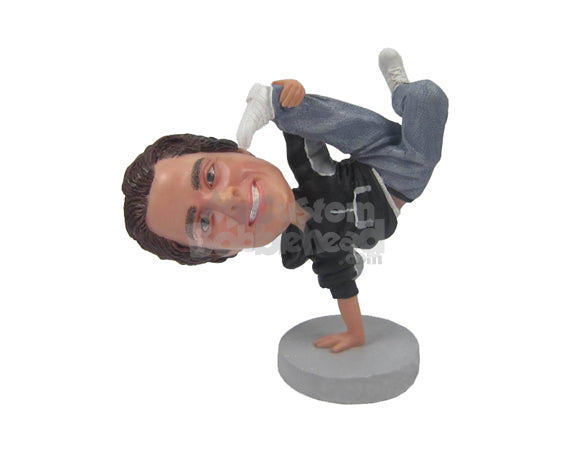 Custom Bobblehead Cool Dude Freestyle Dancer Showing Some Dancing Moves - Sports & Hobbies Dancing Personalized Bobblehead & Cake Topper